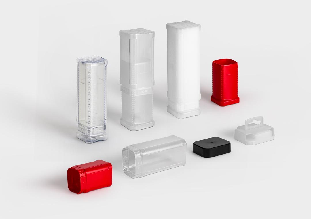 Plastic packaging tube BlockPack in various versions