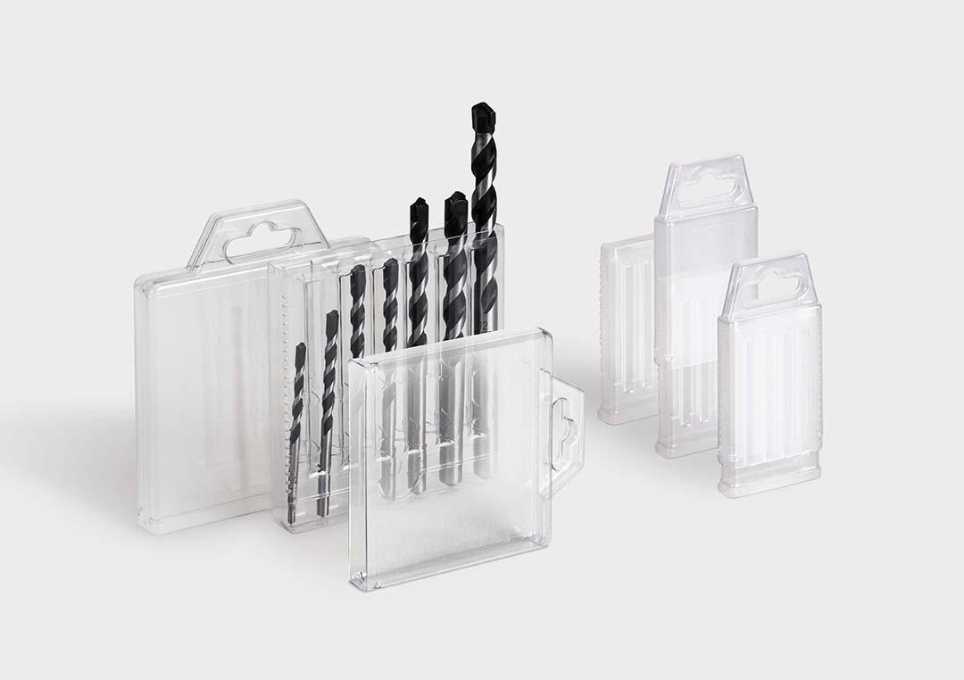 Multipack Drill Bit Set Packaging Rose Plastic