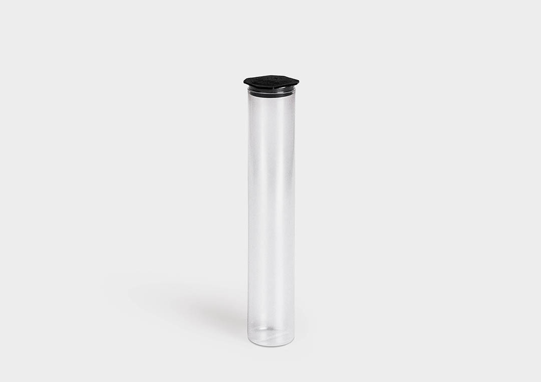 PlugPack: round packaging tube with end plug.